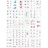 30 pieces Tattoo Sticker Face Hand Beautiful Body Art Fake Tatoo Temporary Waterproof Taty Model KT