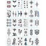 30 pieces Tattoo Sticker Face Hand Beautiful Body Art Fake Tatoo Temporary Waterproof Taty Model V