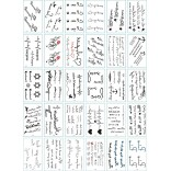 30 pieces Tattoo Sticker Face Hand Beautiful Body Art Fake Tatoo Temporary Waterproof Taty Model A