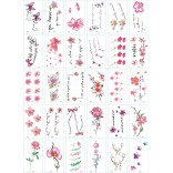 30 pieces Tattoo Sticker Face Hand Beautiful Body Art Fake Tatoo Temporary Waterproof Taty Model B