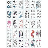 30 pieces Tattoo Sticker Face Hand Beautiful Body Art Fake Tatoo Temporary Waterproof Taty Model C