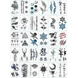 30 pieces Tattoo Sticker Face Hand Beautiful Body Art Fake Tatoo Temporary Waterproof Taty Model D