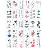 30 pieces Tattoo Sticker Face Hand Beautiful Body Art Fake Tatoo Temporary Waterproof Taty Model E