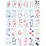30 pieces Tattoo Sticker Face Hand Beautiful Body Art Fake Tatoo Temporary Waterproof Taty Model G
