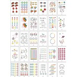 30 pieces Tattoo Sticker Face Hand Beautiful Body Art Fake Tatoo Temporary Waterproof Taty Model XY_C