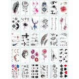30 pieces Tattoo Sticker Face Hand Beautiful Body Art Fake Tatoo Temporary Waterproof Taty Model I