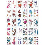 30 pieces Tattoo Sticker Face Hand Beautiful Body Art Fake Tatoo Temporary Waterproof Taty Model J