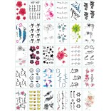 30 pieces Tattoo Sticker Face Hand Beautiful Body Art Fake Tatoo Temporary Waterproof Taty Model L