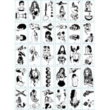 30 pieces Tattoo Sticker Face Hand Beautiful Body Art Fake Tatoo Temporary Waterproof Taty Model O