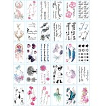 30 pieces Tattoo Sticker Face Hand Beautiful Body Art Fake Tatoo Temporary Waterproof Taty Model Q
