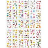 30 pieces Tattoo Sticker Face Hand Beautiful Body Art Fake Tatoo Temporary Waterproof Taty Model U