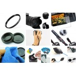 10 in 1 accessories kit voor Canon M50 + 15-45mm IS STM