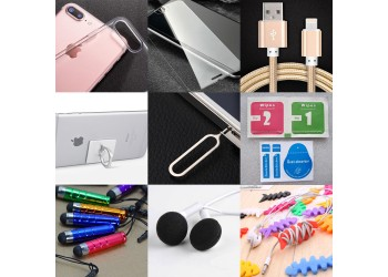 10 in 1 kit: iphone 7 Hoesje LCD protector Kabel Ring
