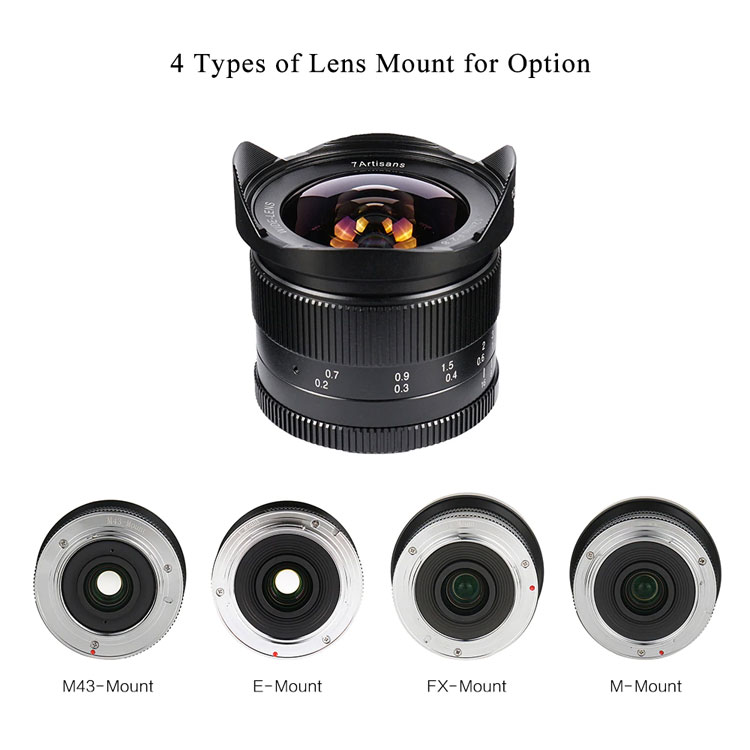 7artisans 12mm F2.8 manual focus lens Sony systeem camera
