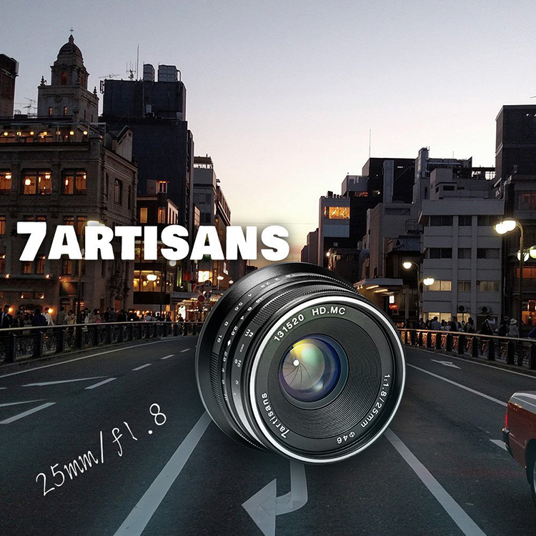 7artisans 25mm F1.8 manual focus lens Fujifilm systemcamera
