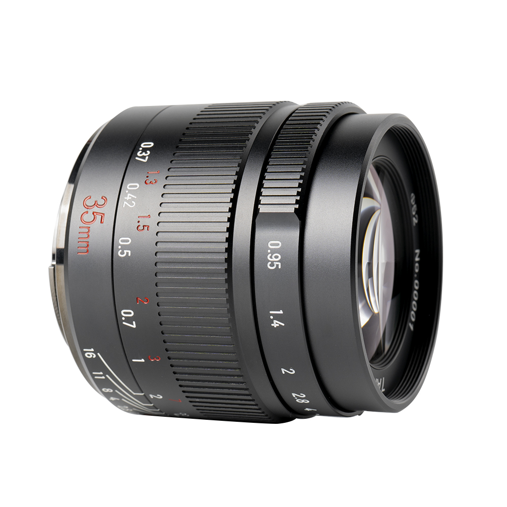 7artisans 35mm F0.95 manual focus lens Sony systeem camera + Gratis lenspen + 52mm uv filter en zonnekap