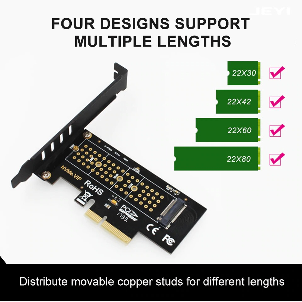 M.2 Nvme Ssd Pcie 3.0 X1 X4 X16 Adapter M Key Interface Card Ondersteuning Pci Express 3.0 M.2