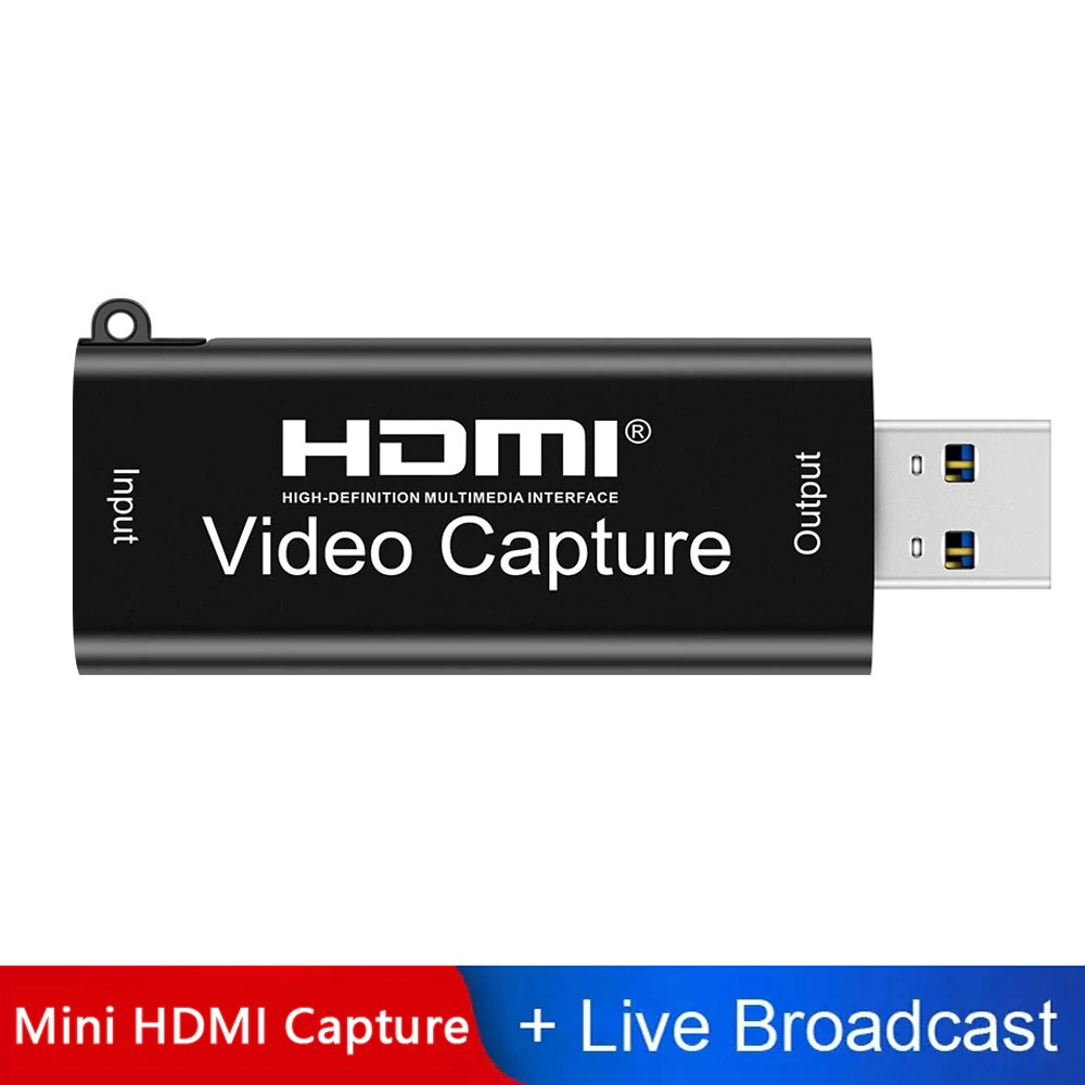 4K Video USB 3.0 Capture HDMI-kaart Video Grabber Record Box voor PS4 Game DVD Camcorder Camera Opname Live Streaming