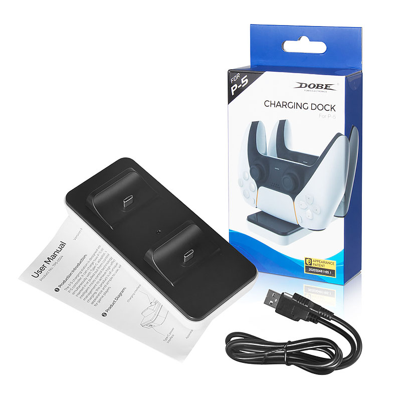 Dual Fast Charger voor Sony PS5 Controller Joystick Gamepad USB 3.1 Type-C Dock Station opladen TP5-0504