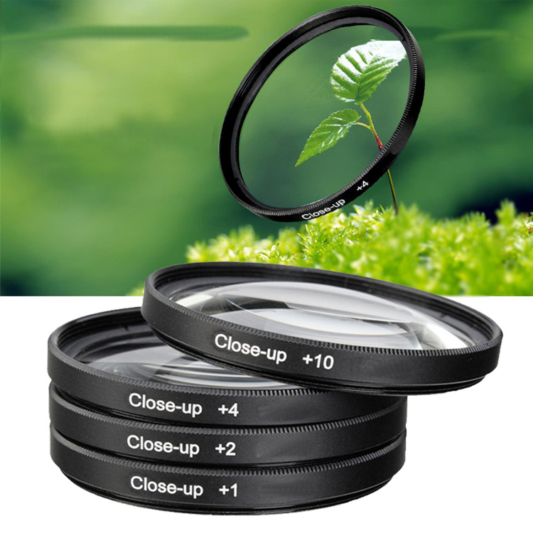 4x 55mm Close up Filter Macro +1+2+4+10 camera lens filter