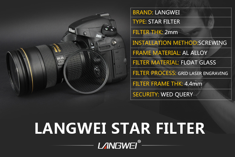 62mm Star Filter (Sterfilter 6 star) Langwei camera lens