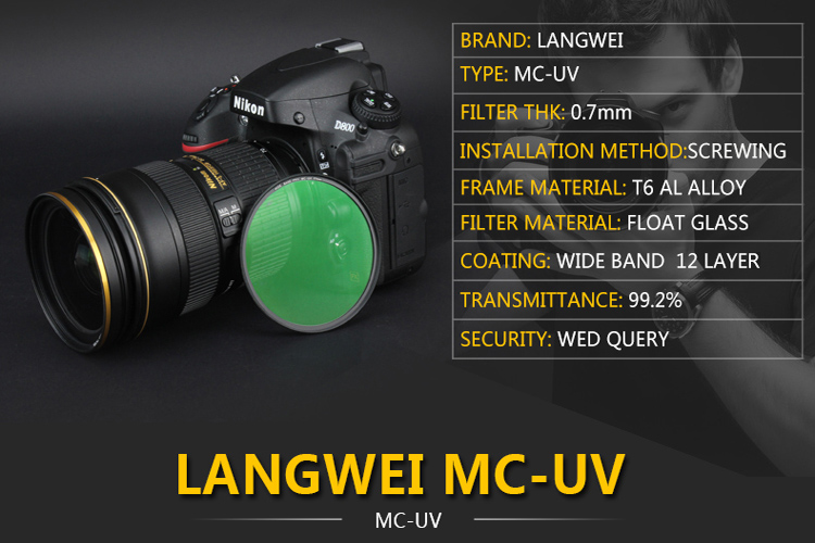 77mm UV Filter Langwei Multi coating MC PRO Slim Camera lens