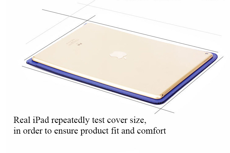 ipad 2017 air 2 Luxe leather case cover hoes 9,7inch zwart
