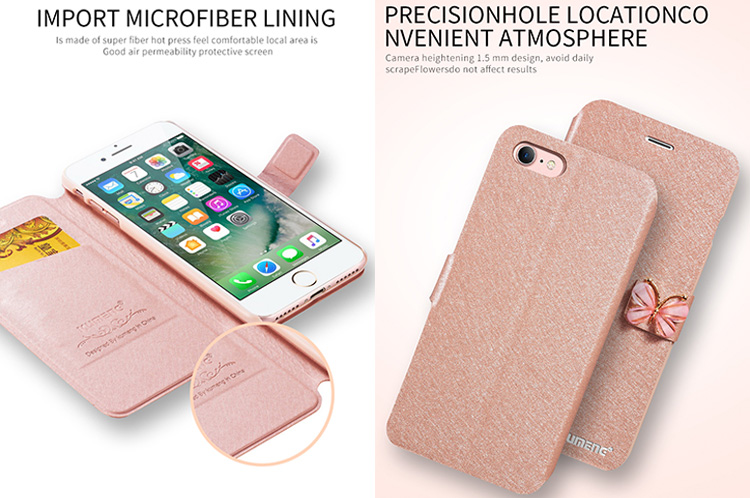 iphone 8 plus Luxe Case Hoes Cover Hoesje zijde Rosegoud