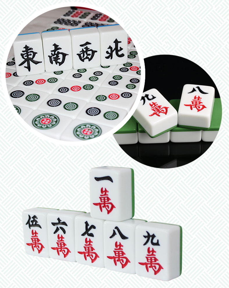 41mm XXL Top-quality Mahjong Acrylic Majiang Set Table game